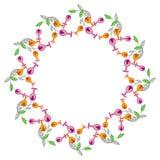 Quadro redondo da cor com flores abstratas Fotografia de Stock