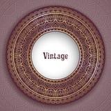 Quadro redondo decorativo Imagem de Stock