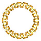 Quadro redondo decorativo da fita espiral dourada Ilustração do vetor ilustração stock