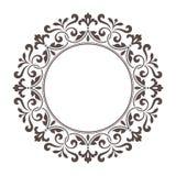 Quadro redondo decorativo para o molde do projeto ilustração do vetor