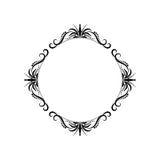 Quadro redondo do contorno do vintage preto clássico ilustração royalty free