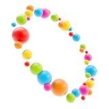 Quadro redondo do copyspace do círculo feito de esferas lustrosas Foto de Stock Royalty Free