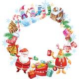 Quadro redondo do Natal Foto de Stock