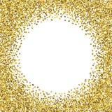 Quadro redondo do ouro do brilho Foto de Stock Royalty Free