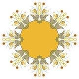 Quadro redondo luxuoso bonito Foto de Stock Royalty Free