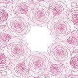 Quadro redondo no fundo cor-de-rosa linear Fotografia de Stock