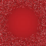 Quadro redondo vermelho do brilho Fotos de Stock