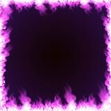 Quadro retangular cercado com chama Fotografia de Stock Royalty Free