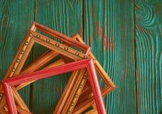 Quadro retangular com espaço da cópia, em um fundo de madeira autêntico bonito Fotografia de Stock