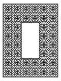 Quadro retangular com o ornamento árabe tradicional Imagem de Stock