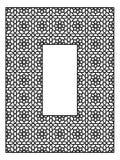 Quadro retangular com o ornamento árabe tradicional Imagem de Stock Royalty Free