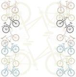 Quadro retro com bicicletas Fotos de Stock Royalty Free