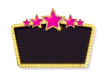 Quadro retro com cinco estrelas Fotos de Stock