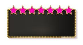 Quadro retro com cinco estrelas Fotografia de Stock