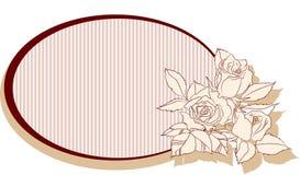 Quadro retro com rosas Imagens de Stock Royalty Free