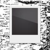 Quadro retro da foto do Polaroid no fundo de Fotografia de Stock Royalty Free