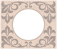 Quadro retro do círculo com ornamento do vintage Fotos de Stock Royalty Free