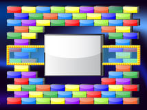 Quadro retro do jogo Imagens de Stock