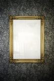Quadro retro do ouro Fotos de Stock Royalty Free