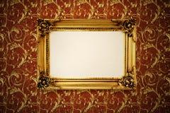 Quadro retro do ouro Imagens de Stock Royalty Free