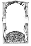 Quadro Rose Motif Shawl Fotografia de Stock Royalty Free