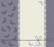 Quadro roxo com borboletas à moda Imagens de Stock