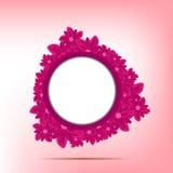 Quadro roxo com flores bonitas Imagens de Stock