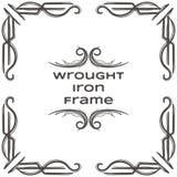 Quadro seis do ferro forjado Imagem de Stock