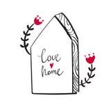 Quadro sob a forma da casa Imagem de Stock Royalty Free