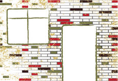 Quadro televisivo astratto delle mattonelle di mosaico del grunge Fotografia Stock