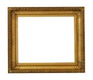 Quadro textured dourado antigo da obra-prima fotografia de stock