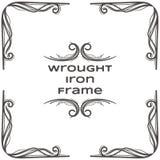Quadro três do ferro forjado Fotos de Stock Royalty Free