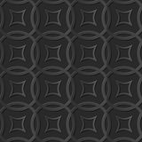 Quadro transversal redondo do teste padrão 043 de papel escuros elegantes sem emenda da arte 3D Fotografia de Stock Royalty Free