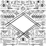 Quadro tribal abstrato do vetor Imagens de Stock