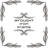 Quadro um do ferro forjado Imagem de Stock