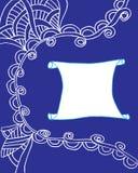 Quadro uma beira de testes padrões abstratos no branco Imagem de Stock Royalty Free
