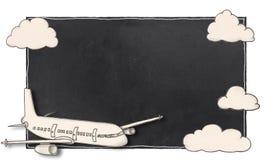 Quadro vazio com avião ilustração royalty free