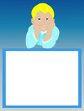 Quadro vazio com menino de sorriso Imagem de Stock