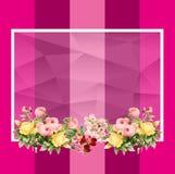 Quadro vazio das flores ilustração royalty free