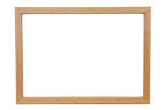Quadro vazio de madeira da foto no fundo branco Foto de Stock Royalty Free