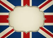 Quadro vazio em insígnias de Reino Unido ilustração stock