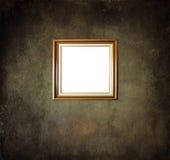 Quadro vazio na parede da sala do grunge Foto de Stock Royalty Free
