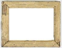 Quadro vazio podre do vintage velho em um branco imagem de stock