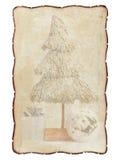 Quadro velho, dilapidado com bordas carbonizadas, com a imagem da corrente alternada Fotos de Stock