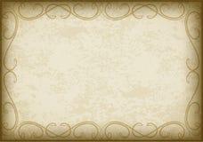 Quadro velho no papel envelhecido com bordas escuras e um espaço vazio para o te ilustração do vetor