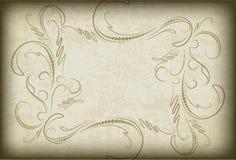 Quadro velho no papel envelhecido com bordas escuras e um espaço vazio para o te ilustração royalty free