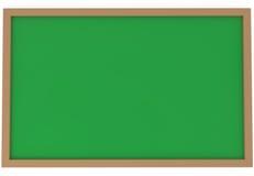 Quadro verde em branco isolado no branco Imagem de Stock
