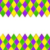Quadro verde, roxo, amarelo do carnaval da grade ilustração stock