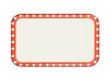 Quadro vermelho da marca vazia com as ampolas isoladas no fundo branco Imagem de Stock Royalty Free