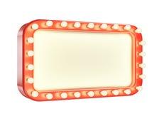 Quadro vermelho da marca vazia com as ampolas isoladas no fundo branco Imagens de Stock Royalty Free